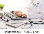 close up of a female doctor ... | Shutterstock . vector #480131734