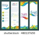 summer travel   set of vertical ... | Shutterstock . vector #480137650