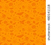 halloween orange festive... | Shutterstock .eps vector #480141118