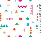 seamless pattern geometric...   Shutterstock . vector #480145336