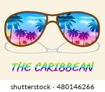 caribbean holiday sunglasses... | Shutterstock . vector #480146266