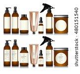 realistic brown bottle for... | Shutterstock .eps vector #480151540