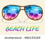 beach life representing sea and ... | Shutterstock . vector #480155269