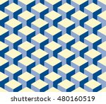 isometric cubes pattern.... | Shutterstock .eps vector #480160519