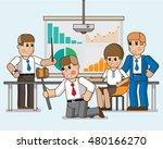 selfie shot office workers. the ... | Shutterstock .eps vector #480166270