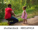 black african father takes... | Shutterstock . vector #480169414