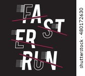faster run athletic sport... | Shutterstock .eps vector #480172630
