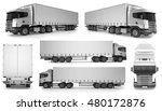 6 x big truck background  ... | Shutterstock . vector #480172876