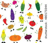 a lot of vegetables. vector... | Shutterstock .eps vector #480173344