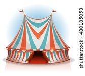 big top circus tent ... | Shutterstock .eps vector #480185053
