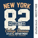 college new york  brooklyn... | Shutterstock .eps vector #480197488