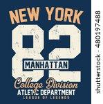 college new york  brooklyn... | Shutterstock .eps vector #480197488