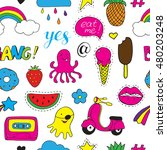 seamless vector pattern with... | Shutterstock .eps vector #480203248