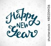 happy new year vintage hand... | Shutterstock .eps vector #480204436