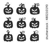 halloween pumpkin for halloween ... | Shutterstock .eps vector #480210190