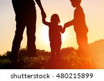 father with son and daughter... | Shutterstock . vector #480215899