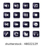 music symbols and icons vector... | Shutterstock .eps vector #48022129