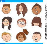 cartoon illustration of funny... | Shutterstock .eps vector #480221944