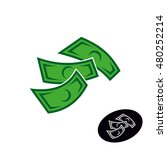 money logo. falling or flying... | Shutterstock .eps vector #480252214