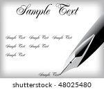 vector fountain pen and paper | Shutterstock .eps vector #48025480