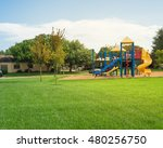 colorful children playground... | Shutterstock . vector #480256750