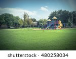 colorful children playground... | Shutterstock . vector #480258034