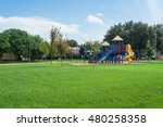colorful children playground... | Shutterstock . vector #480258358