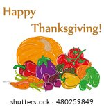 happy thanksgiving composition... | Shutterstock .eps vector #480259849