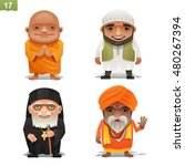 religion professions set | Shutterstock .eps vector #480267394