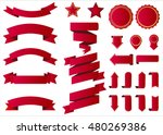 ribbon vector icon red color on ... | Shutterstock .eps vector #480269386