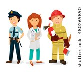 emergency service   a police... | Shutterstock .eps vector #480269890