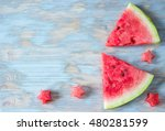 Sliced Watermelon With Carved...
