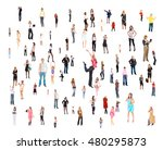 corporate teamwork clerks... | Shutterstock . vector #480295873