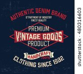 typography vintage outfit brand ...   Shutterstock .eps vector #480316603
