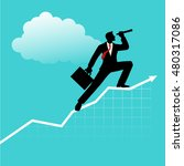 silhouette of a businessman... | Shutterstock .eps vector #480317086