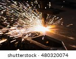 plasma cutting metalwork... | Shutterstock . vector #480320074