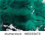 abstract emerald and black hand ...