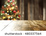 wooden table of free space for... | Shutterstock . vector #480337564