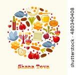 rosh hashanah  shana tova or... | Shutterstock .eps vector #480340408