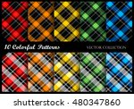 plaid pattern collection  ... | Shutterstock .eps vector #480347860