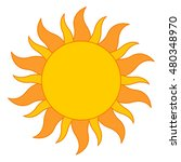 yellow sun burst icon isolated... | Shutterstock .eps vector #480348970