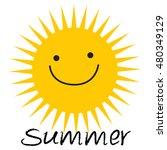 yellow sun burst icon isolated... | Shutterstock .eps vector #480349129
