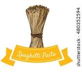 spaghetti pasta colorful... | Shutterstock .eps vector #480352594