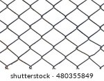 metal grid fence isolated on... | Shutterstock . vector #480355849