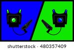 laser tag vest and gun team | Shutterstock .eps vector #480357409