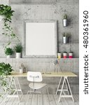 mock up poster  office space ... | Shutterstock . vector #480361960