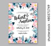 romantic pink peony bouquet... | Shutterstock .eps vector #480371749