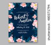 romantic pink peony bouquet... | Shutterstock .eps vector #480371794