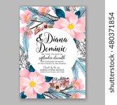 romantic pink peony bouquet... | Shutterstock .eps vector #480371854