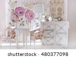 white vintage kitchen | Shutterstock . vector #480377098